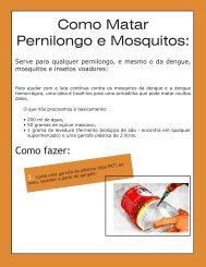 Como Matar Pernilongo e Mosquitos: - Inesul
