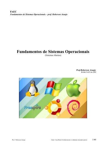 Fundamentos de Sistemas Operacionais - Inesul