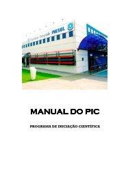 Manual do programa de iniciação científica. - Inesul