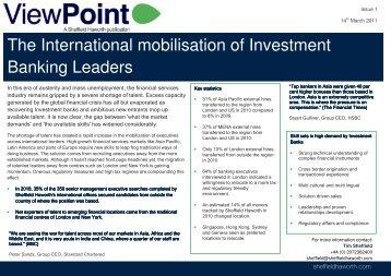 Viewpoint: International Mobilisation - Sheffield Haworth