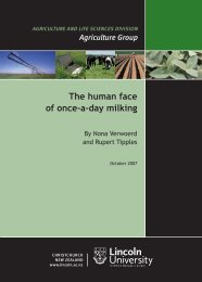 The human face of once-a-day milking - Lincoln University