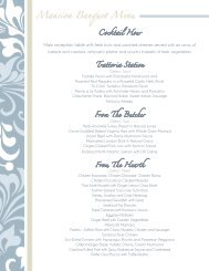 Wedding Menu - Lessing's