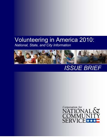 Volunteering in America 2010: ISSUE BRIEF - nclc203wagner