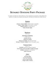 Setauket StationS Party Package