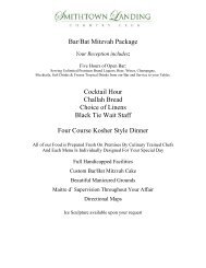 Bar / Bat Mitzvah Menu
