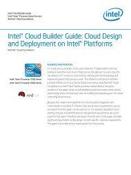 Red Hat Cloud foundations - Intel Cloud Builder Guide