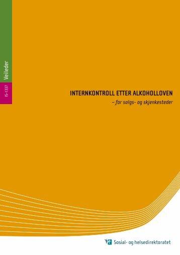 Internkontroll etter alkoholloven - for salgs- og ... - Helsedirektoratet