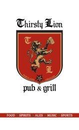 SAUSAGE SANDWICHES - Thirsty Lion Pub & Grill