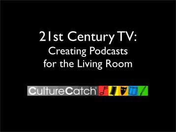 lean-back experience - Dusty Wright's Culture Catch