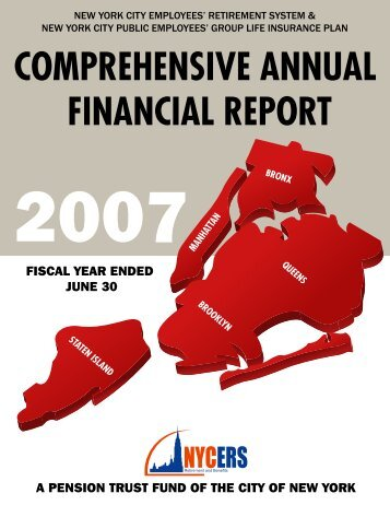 COMPREHENSIVE ANNUAL FINANCIAL REPORT - NYCERS