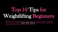 Top 10 Tips for Weightlifting Beginners