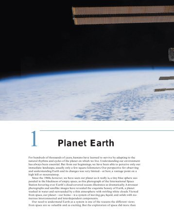 1 Planet Earth - Earth's Dynamic Systems