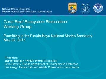 Coral Reef Ecosystem Restoration Working Group - NOAA
