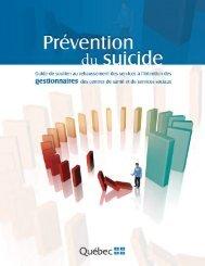 Prévention du suicide-Guide de soutien au rehaussement des ...