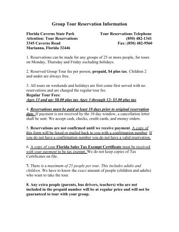 Group Reservation Confirmation Letter