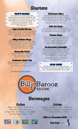 SPECIALS OF THE DAY - Billy Barooz Bar & Grill