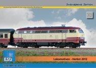 Lokomotiven - Herbst 2012 - ESU