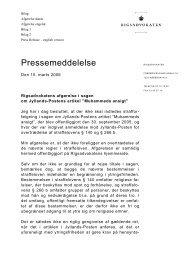 Pressemeddelelse - Krim