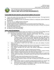 Parcel Map - Tentative/Final Requirements - City of Calimesa