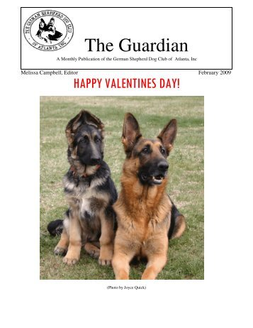 February Guardian - German Shepherd Dog Club of Atlanta