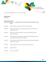 14 de setembro 2012 - 66 Congresso Brasileiro de Cardiologia