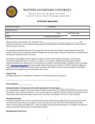 See a sample of the Enrollment Agreement. (PDF) - Western ...