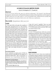 A Case Of Black-Water Fever Arora S, Mohapatra D. P., Franklin M