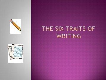 The Six traits of writing.pdf