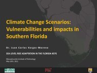 Climate Change Scenarios - The Florida Reef Resilience Program