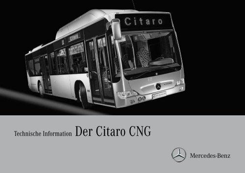 Technische Information Der Citaro CNG