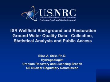 Collection, Statistical Analysis and Public Access