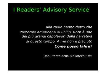 Readers' advisory service - AIB-WEB