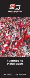 TORONTO FC PITCH MENU - Real Sports