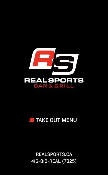 TAKE OUT MENU - Real Sports