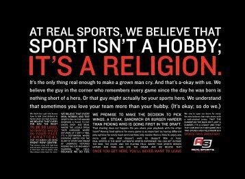 Menu - Real Sports