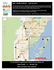 DAY 1 80 MILE ROUTE April 20, 2013 - Bike MS: Breakaway to Key ...