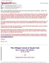 Yahoo! - The Village Canoe and Kayak Club