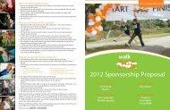 2012 Sponsorship Proposal