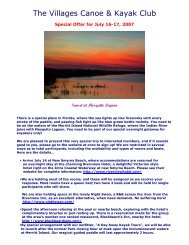 The Villages Canoe & Kayak Club - The Village Canoe and Kayak ...