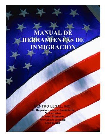 MANUAL DE HERRAMIENTAS DE INMIGRACION - raices