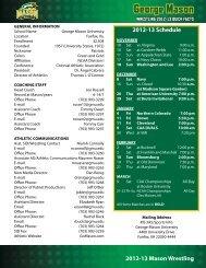 2012 Quick Facts - George Mason University Athletics