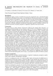 Il sistema organizzativo dei trapianti in Italia - Ministero della Salute