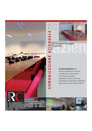scarica la brochure - RC Sistemi