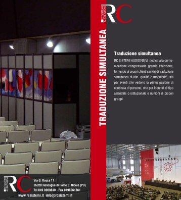 TRADUZIONE SIMULTANEA - RC Sistemi