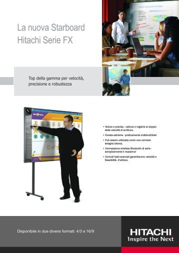 La nuova Starboard Hitachi Serie FX - RC Sistemi