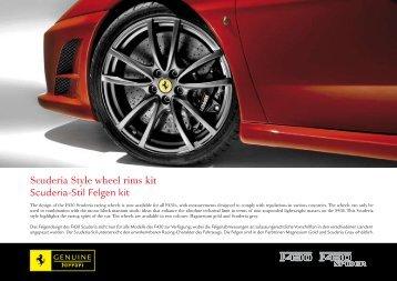 Scuderia Style wheel rims kit Scuderia-Stil Felgen kit