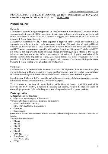 Principi generali Parte operativa - Ospedale di Udine