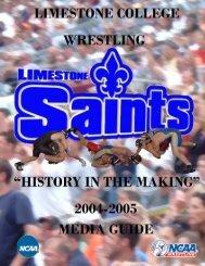 saints wrestling - Limestone Athletics