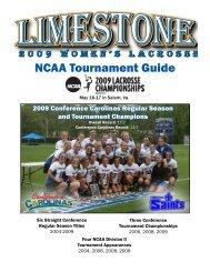 NCAA Tournament Guide - Limestone Athletics
