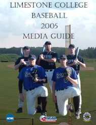 Media Guide - Limestone Athletics